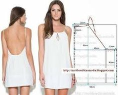 Tedbir for moda Şablonları Diy Clothing, Sewing Clothes, Clothing Patterns, Dress Patterns, Sewing Patterns, Pattern Dress, Top Pattern, Look Fashion, Diy Fashion