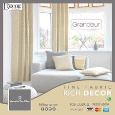 Refined selection of curtains for bringing nobility in your home interior...Now D- Decor Products are available at.#JanataTextiles #Design #Curtains #Collection #Uniqueness