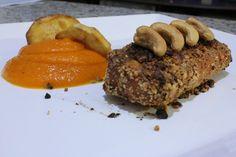 Salmon + Cashew nut + mashed pumpkin + Sweet potato