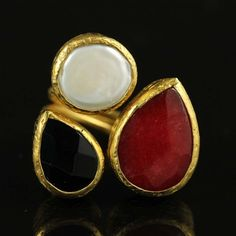 Triple Stone Ring, 62€, now featured on Fab.