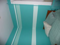 Bedroom stripes. #ColorIntensity #PeacockGreen #TurnHeads