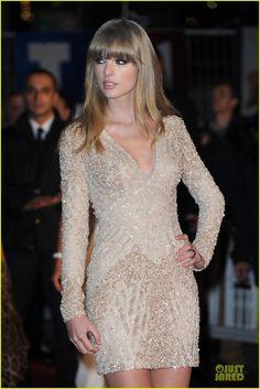 Bling in the nude!  Taylor Swift: NRJ Music Awards 2013 Red Carpet.  Ellie Saab Dress http://www.justjared.com/photo-gallery/2798888/taylor-swift-nrj-music-awards-2013-red-carpet-02/#