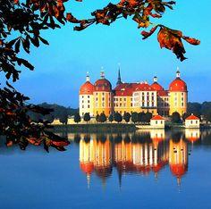 Moritzburg Castle, Germany palac, moritzburg castl, reflection photography, san marino, germany travel, castles, germani, robert frost, schloss moritzburg