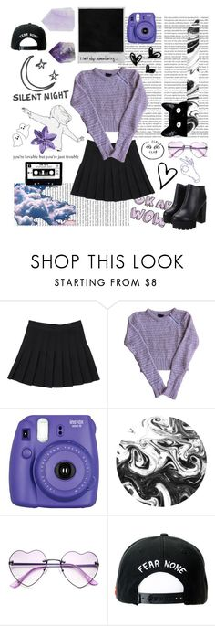 """""""Purple 💜"""" by galaxygirl12427 ❤ liked on Polyvore featuring Topshop, Fujifilm, Silent Night, Trukfit and Strange Days"""