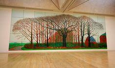 """David Hockney - """"Bigger trees near water"""" at the Tate"""
