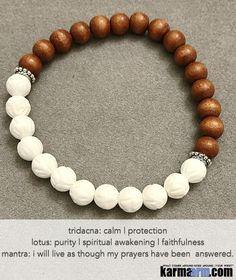 Yoga Bracelets. White Triacna Lotus Sandalwood. Handmade Luxury. Men's & Women's Law of Attraction. Energy Healing. Beaded Mala. Tibetan Buddhist. #LOA.