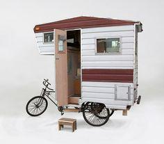 Homem cria casa móvel transportada por triciclo para qualquer lugar - Notícias - LUGARCERTO