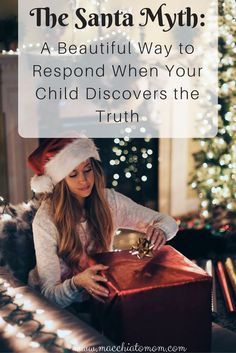 What do you say when your child finds out the truth about Santa and feels a bit betrayed or deceived? Check out my post to find out one beautiful way on how to respond.