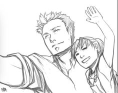 A happy Roy and Lian Harper