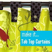 LOVE these tab curtains!  What incredible colors!