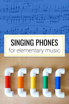 A tutorial on how to make singing phones using PVC pipe and elbows. A fantastic tool for the elementary music classroom! Music Lessons For Kids, Music Lesson Plans, Music For Kids, Singing Lessons, Preschool Music Lessons, Elementary Music Lessons, Vocal Lessons, Piano Lessons, Elementary Schools