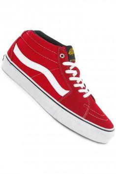 Vans x Black Label Sk8-Mid Pro Suede Schuh (red) kaufen bei skatedeluxe