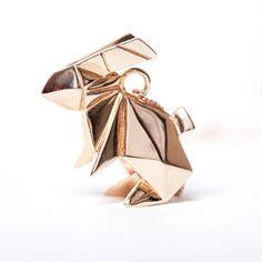ネックレス - Rabbit Necklace - Rose Gold