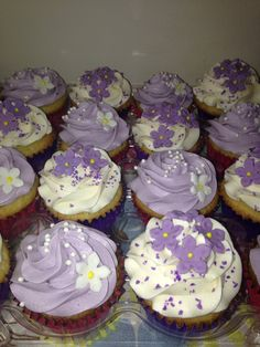 Lilac cupcakes Facebook.com/finchycakes