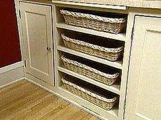 Slide-out Storage | DIY KITCHEN STORAGE | Pinterest | Trash ...