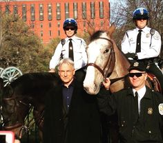 11 April 2016 - Mark Harmon loves horses and DCparkpolice