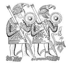 Saxon warrior carving a number of helmet finds have for Saxon warrior tattoos