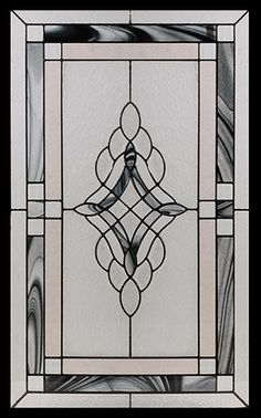 Stained Glass Door Inserts - Rosetta 22x36 Stocked by Randal's Wrought Iron & Stained Glass serving the Greater Toronto Area and surrounding areas.