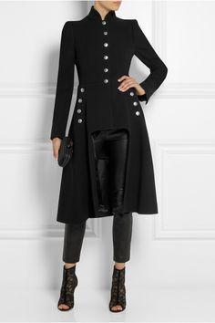 Breath taking, head turning, eye opening military coat, Alexander Mc Queen-tastic!x