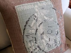 """NEW, Pillow Cover, Cushion,  20""""x20"""" Paw Cheetah Soft browns and gray with blue. $35.00, via Etsy."""