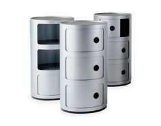 Anna Castelli Ferrieri White Componibili Storage Module for Kartell