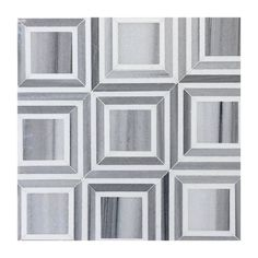 Piazza Zebra White Thassos Marble Grey Modern Bathroom Floor Shower Wall Tile #TileBuys