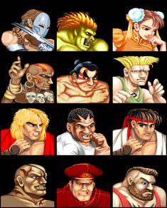 Street Fighter II - Post fight avatars
