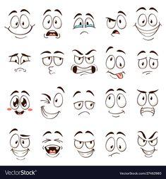 Cartoon Faces Caricature Comic Emotions Different Lagervektor (royaltyfri) 1523928926 - Sara key imagenes - Cartoon Faces Expressions, Drawing Cartoon Faces, Cartoon Expression, Cartoon Art, Cartoon Mouths, Cartoon Eyes, Comic Face, Cartoon Design, Rock Crafts