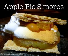Apple Pie Gourmet S'mores - Love this idea for the 4th of July