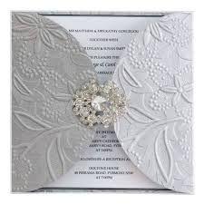 embossed paper invite
