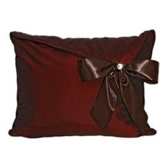 Wake Up Frankie - Go-diva Standard Sham with Bow - Chocolate Covered Cherry - 50% off! : Teen Bedding, Pink Bedding, Dorm Bedding, Teen Comforters