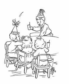 Birthday Coloring pages | Birthday party