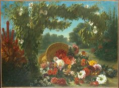 Eugène Delacroix (French, 1798–1863). Basket of Flowers, 1848–49. The Metropolitan Museum of Art, New York. Bequest of Miss Adelaide Milton de Groot (1876–1967), 1967 (67.187.60) #spring