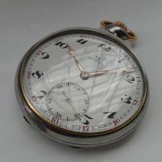 Reloj De Bolsillo Omega, Dec20,acero,porcelana Original. - $ 4.500,00 en MercadoLibre