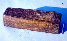 Viking Age decorated wooden box from Christchurch place, Dublin. Photo by A.B. Ó Ríordáin