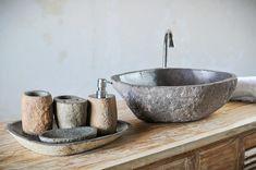 Раковина, набор для ванной, речной камень, с острова Бали, Индонезия, натуральный камень, интерьер для ванной комнаты, эко-дизайн,  River stone sink, bathroom accessories, Natural stone, bathroom interior design, eco-design, Bali, Indonesia