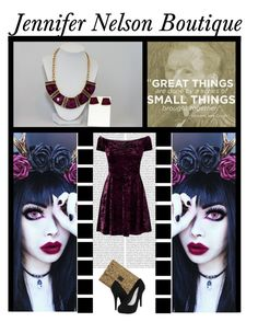 """Jennifer Nelson Boutique (6)"" by irresistible-livingdeadgirl ❤ liked on Polyvore featuring Oris, Anya Hindmarch, Michael Antonio, Dark, goth, youtube, polyvorecommunity and statementnecklace"