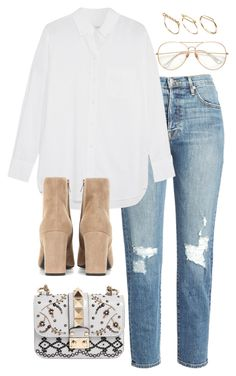 """Untitled #3156"" by theaverageauburn on Polyvore featuring Frame, Equipment, Yves Saint Laurent, ASOS and Valentino"