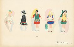 Sonia Delaunay Fashion Illustration   by FIT Library Department of Special Collections