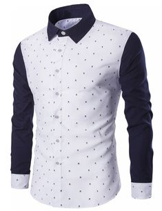 Cheap shirt male, Buy Quality dot man directly from China polka dot mens shirt Suppliers: 2017 Hot Sale Brand Clothing Spring Polka Dot Men Shirt Fashion Long Sleeve Tuxedo Shirt Men Quality Cotton Casual Shirt Male Slim Fit Dress Shirts, Fitted Dress Shirts, Shirt Dress, Cool Shirts, Casual Shirts, Suit Fashion, Mens Fashion, Boutique Shirts, Men Design
