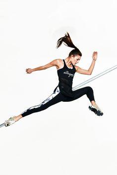 Elle Sport Sleek Printed Panel Calf Length Capri | Jane Norman