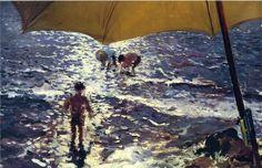 Joaquin Sorolla / Midday at Valencia beach, 1904