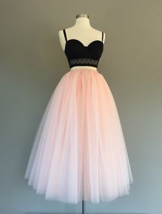 Tulle skirt, floor length tulle skirt, light blush tulle skirt, adult tulle skirt, ANY COLOR