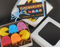 Pacman Soap Set  Party Favor Stocking Stuffer by FushichosGallery, $6.00