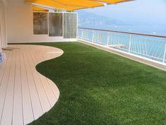 Gazon synthétique Green touch balcon en bord de mer / Bergon
