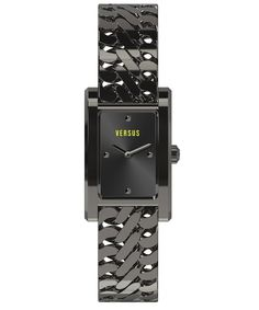 VERSUS Versus Runaway  Black Ion Plated Stainless Steel Rectangular Watch'. #versus #fashion watches