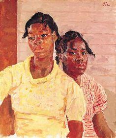 """The Two Jamaican Girls'"" (1937) Augustus John [1878-1961] Walker Art Gallery, Liverpool, UK"