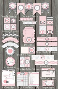 Huge Pink Stork Girl Baby Shower Package – Invitation Included - Decoration For Home Fiesta Baby Shower, Baby Shower Fun, Baby Shower Favors, Baby Shower Themes, Baby Shower Decorations, Baby Boy Shower, Baby Shower Souvenirs, Moldes Para Baby Shower, Imprimibles Baby Shower