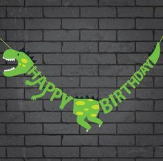 Happy Birthday Dinosaur Party Banner Decoration- Happy Birthday Dinosaur Party Banner Decoration - The Effective Pictures We Offer You About Dinosaur anniversaire A quality pictu Diy Birthday Banner, Birthday Party Decorations Diy, Happy Birthday Parties, Dinosaur Birthday Party, Happy Birthday Banners, Birthday Party Themes, Happy Party, 3rd Birthday, Birthday Ideas
