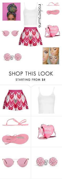 """""""All About Pink"""" by irockcrowns ❤ liked on Polyvore featuring Giambattista Valli, Topshop, MARC CAIN, Sugarbaby, Oliver Peoples and Bling Jewelry"""
